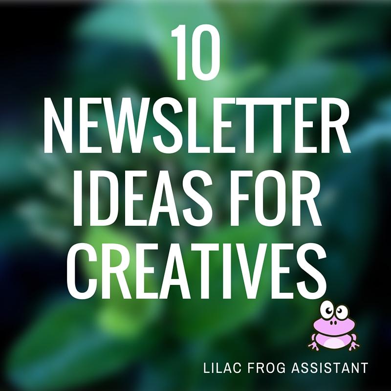 10 newsletter ideas for creatives