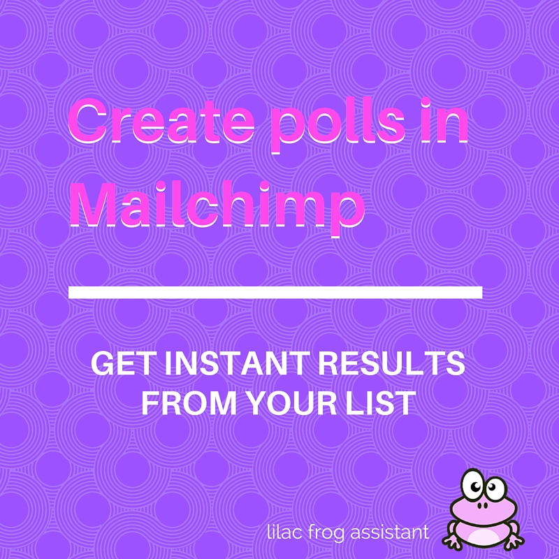 create polls in mailchimp