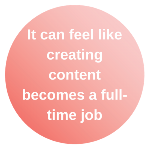 it can feel like creating content becomes a full-time job.