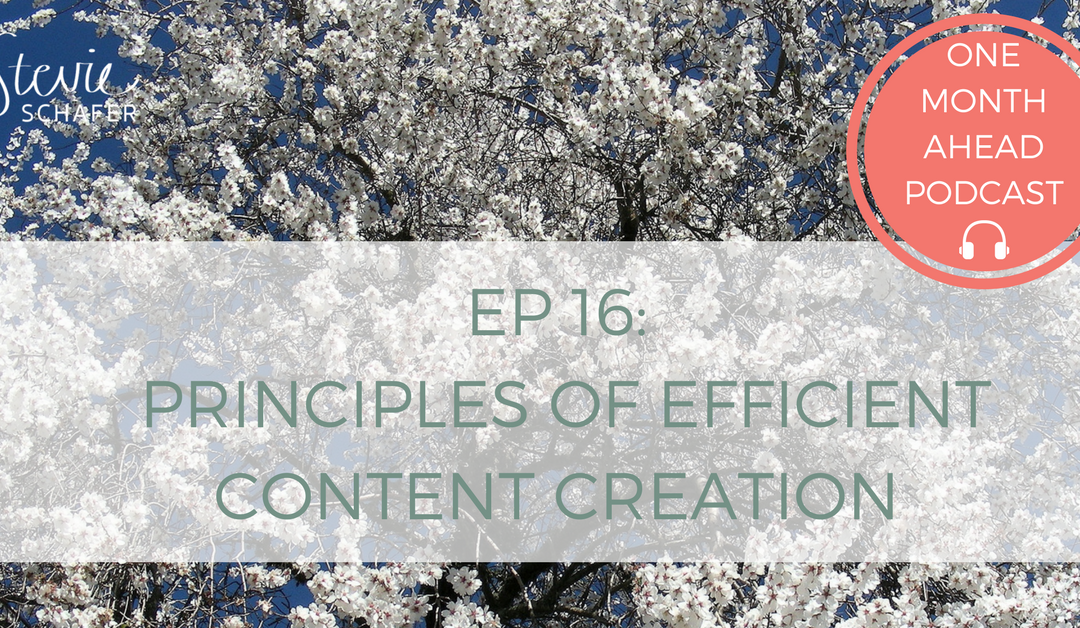 Principles of Efficient Content Creation