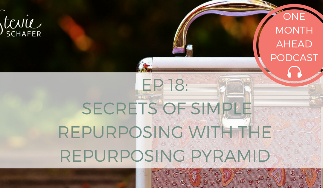 Secrets of Simple Repurposing with the Repurposing Pyramid
