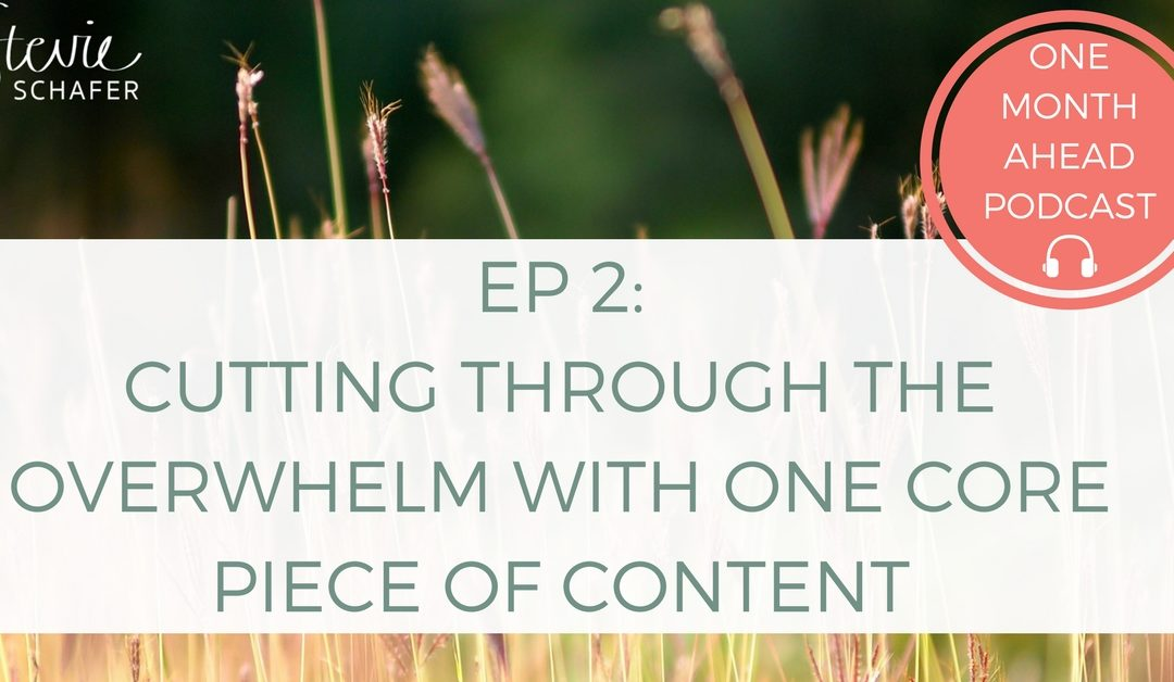 2. Cutting Through The Overwhelm with One Core Piece of Content